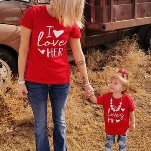 I love Her/Him and She loves me – Mommy and Me Set